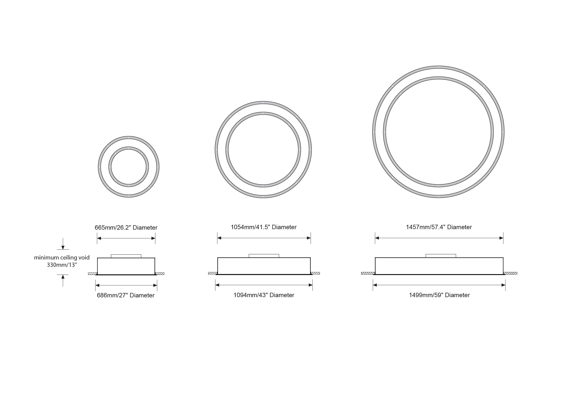 Betacalco Bubble Up Ring Of White Led Recessed Light