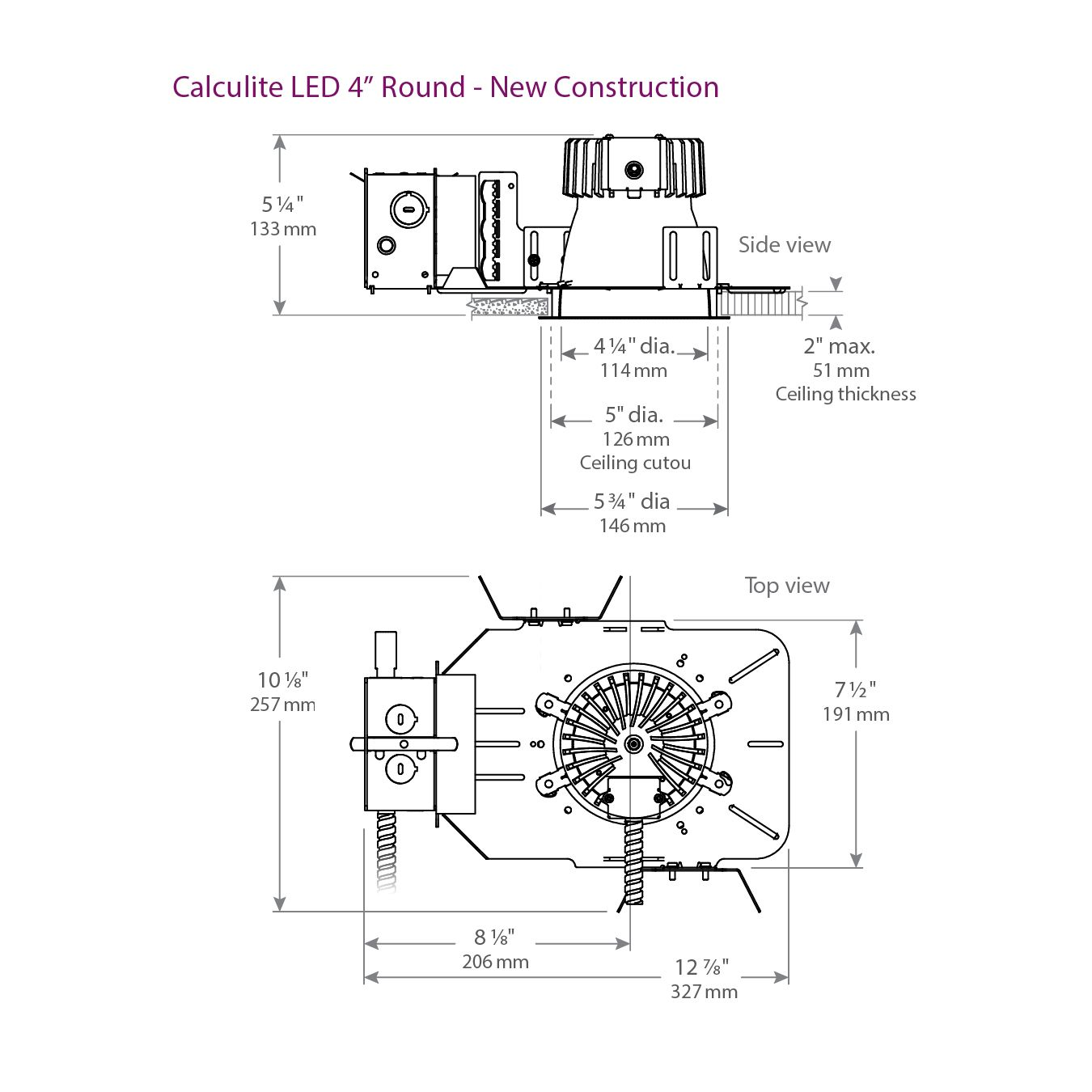 hight resolution of lightolier c4l calculite led 4 round aperture wide beam 1500 2250 rh alconlighting com wiring diagram
