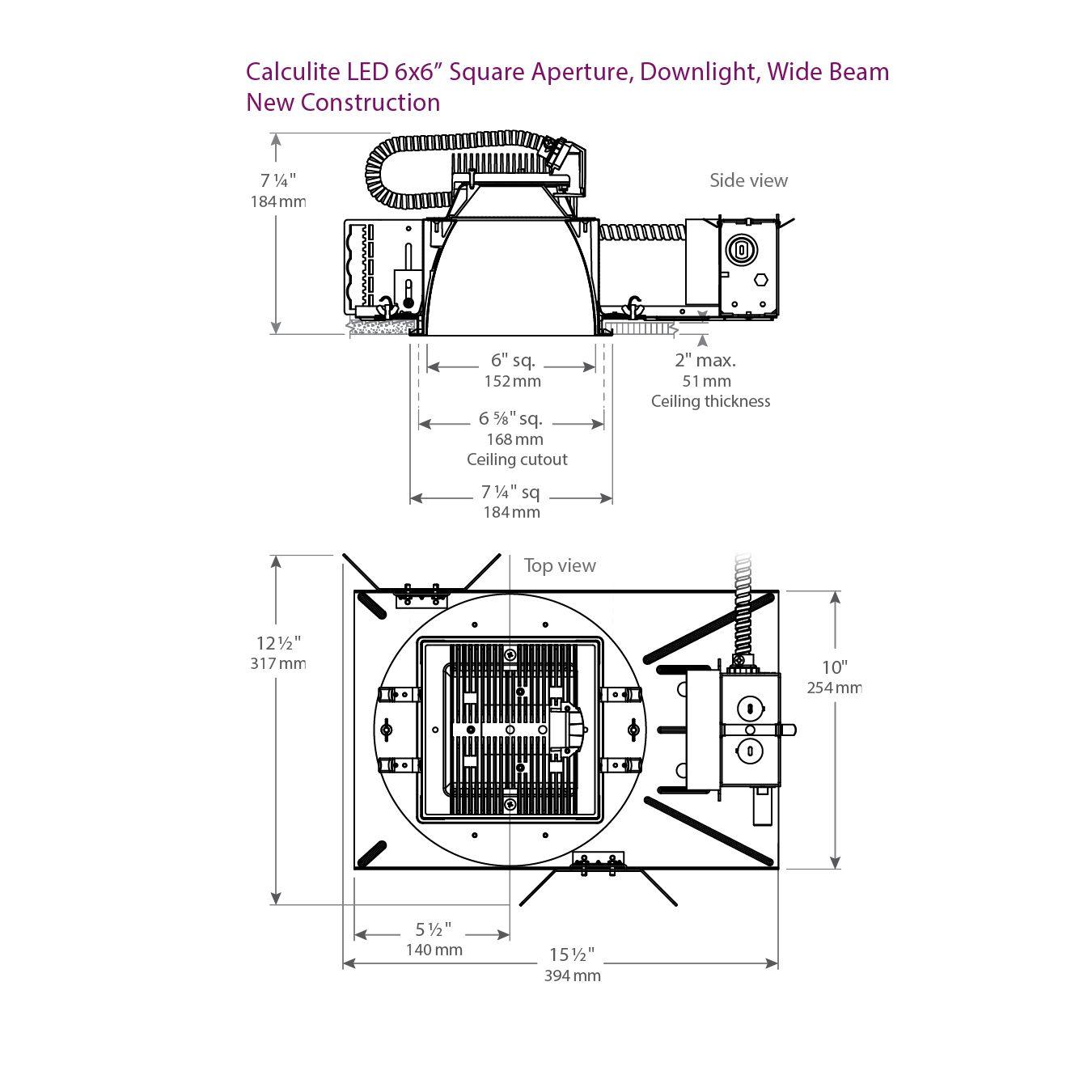 Philips Lightolier C6x6l15n Calculite Lumens Recessed