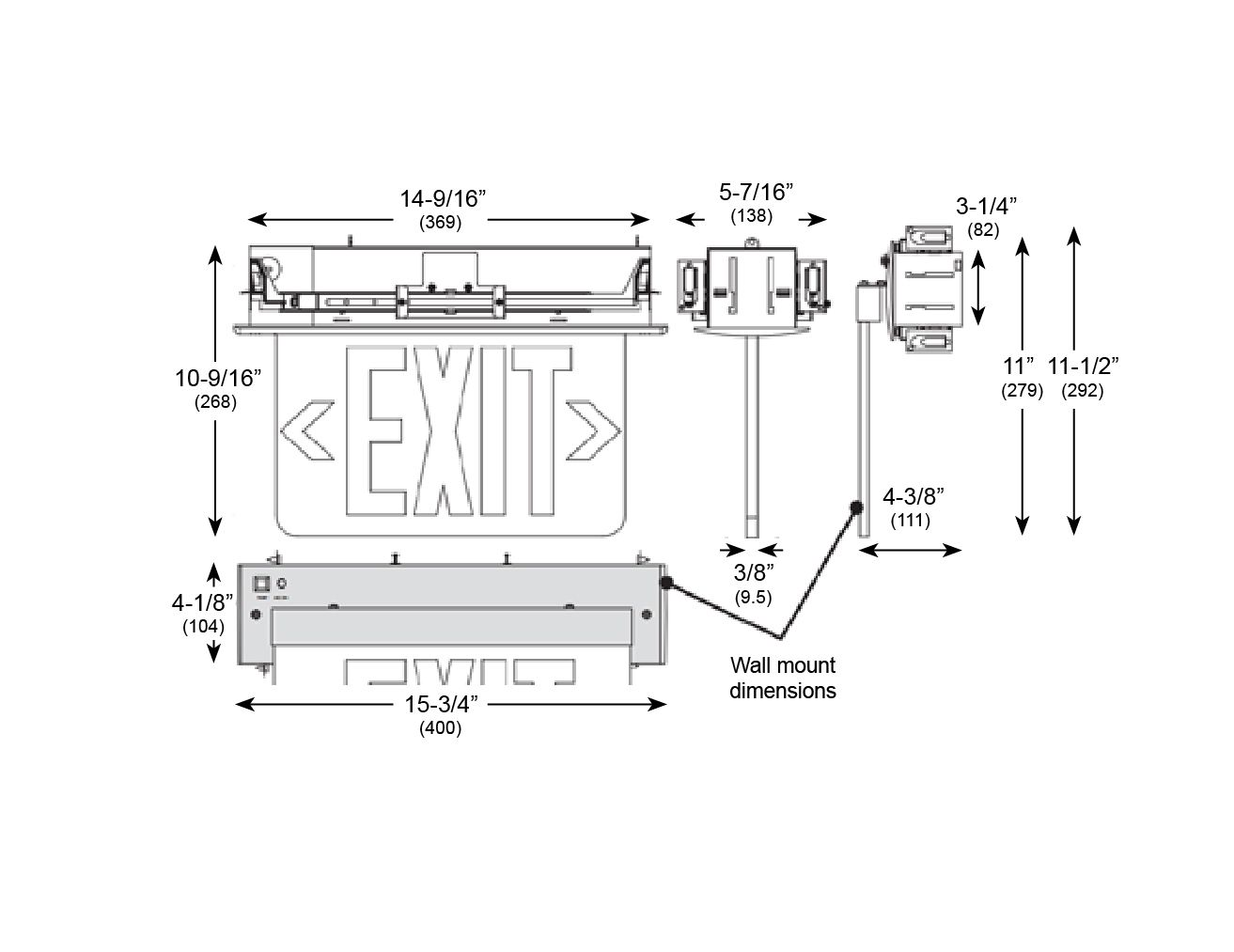 Alcon Lighting Edge Lit 901 Recessed LED Exit Signs