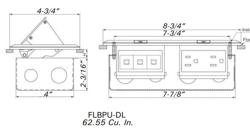 Orbit Stainless Steel Industrial Floor Box Pop-up with