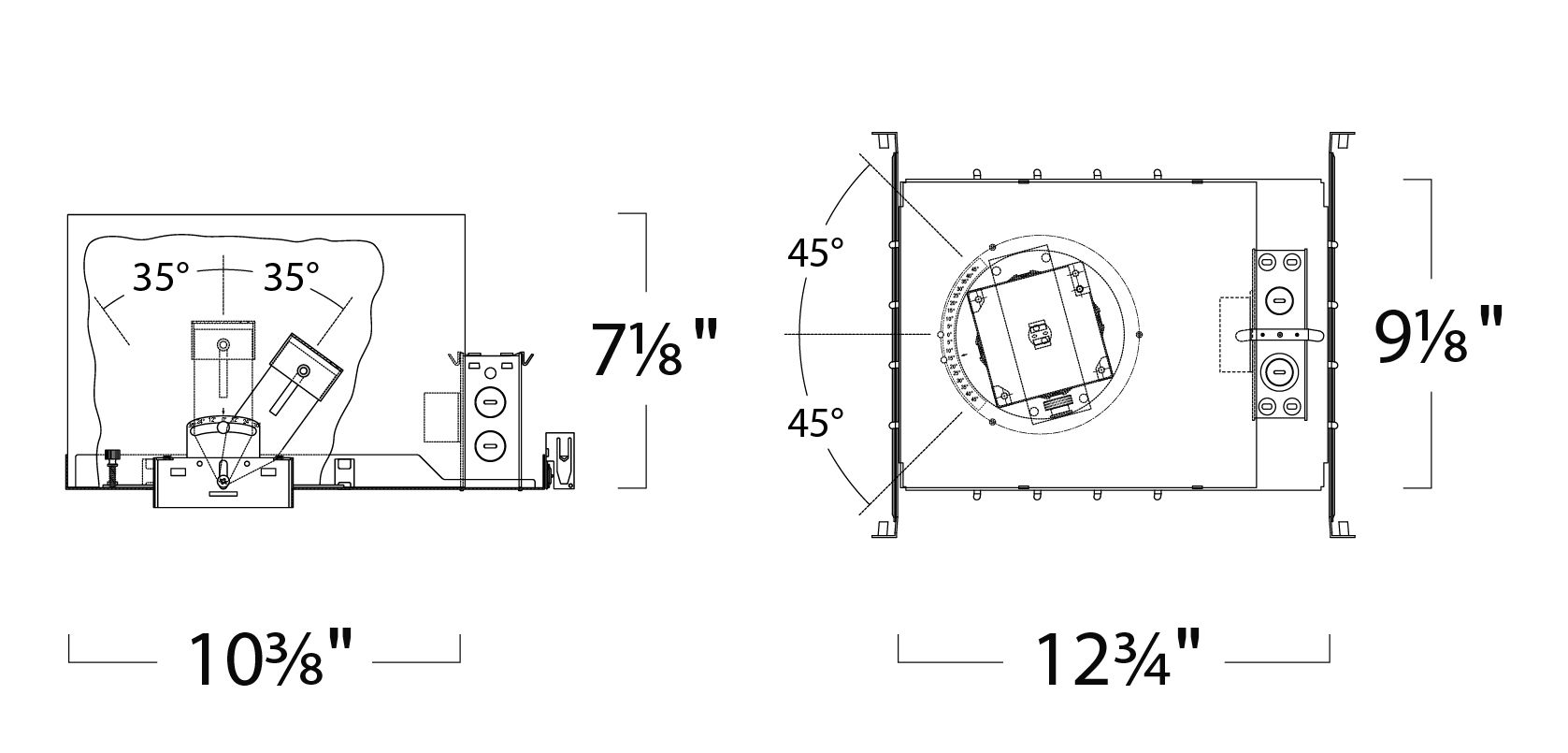Alcon Lighting 14006-2 Illusione 3 Inch Architectural LED