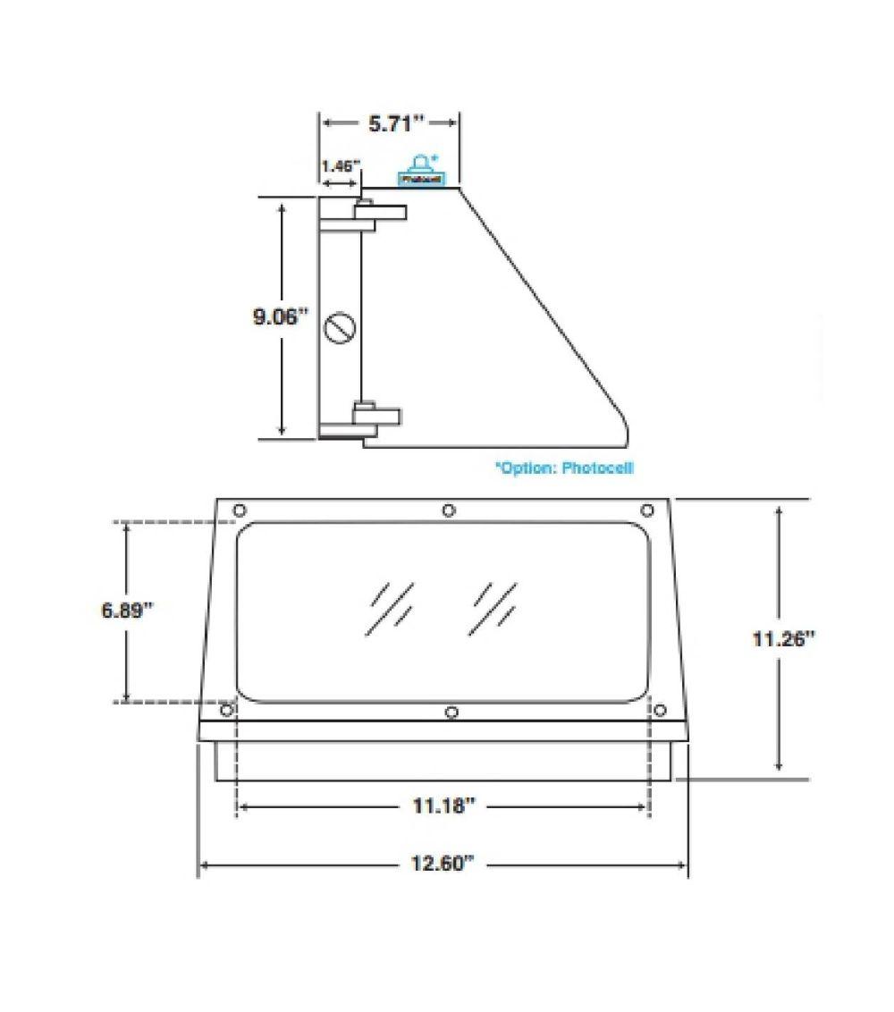 medium resolution of maxlite wallmax mlswp30led50dsms4 commercial 30 watt 5000k led outdoor wall pack fixture with motion