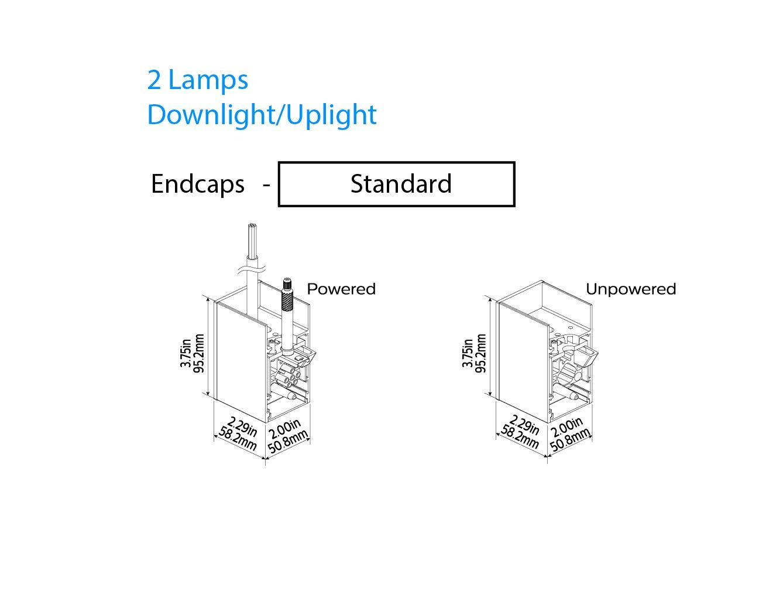 Philips Ledalite Mq06 Microsquare Suspended Linear Fluorescent Fixture