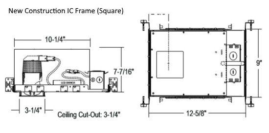 Alcon Lighting 14073-ADJ Illusione 2.5 Inch Architectural