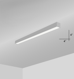 alcon lighting 12100 44 s 4 continuum 44 series architectural led linear surface [ 900 x 900 Pixel ]
