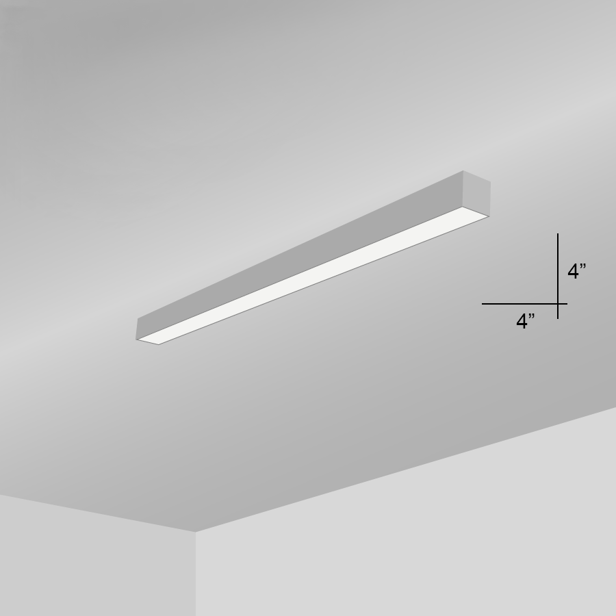 hight resolution of alcon lighting 12100 44 s 4 continuum 44 series architectural led linear surface