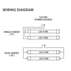 120v Ballast Wiring Diagram Ford Escape Fuse Box Neptun Led 88020 Adim 850 4 Feet 20 Watt 5000k T8