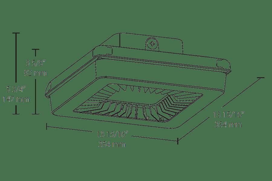 RAB PORTO PRT LED Garage Canopy Light with Multi Level