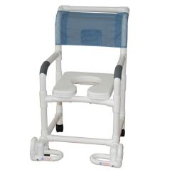 Shower Chair With Wheels And Removable Arms Swing Top W/ Soft Seat - Al-68232 Alco Sales & Service Co.