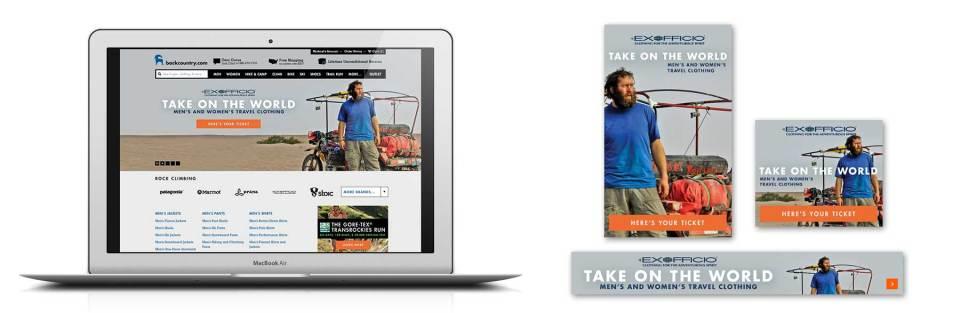 Client: Backcountry.com Web graphics and promotion for Ex Officio Softgoods