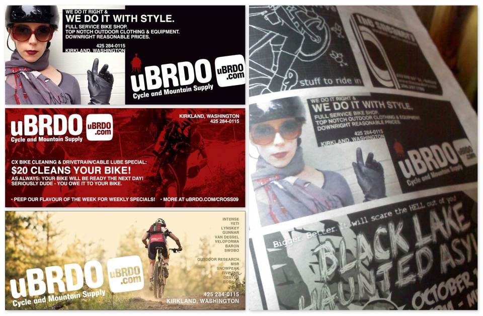 Client: uBRDO Seattle, Washington Print graphics and promotional marketing