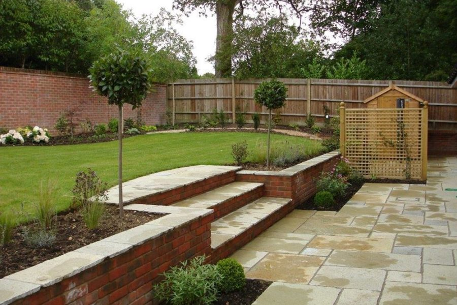 how to cope with a sloping garden