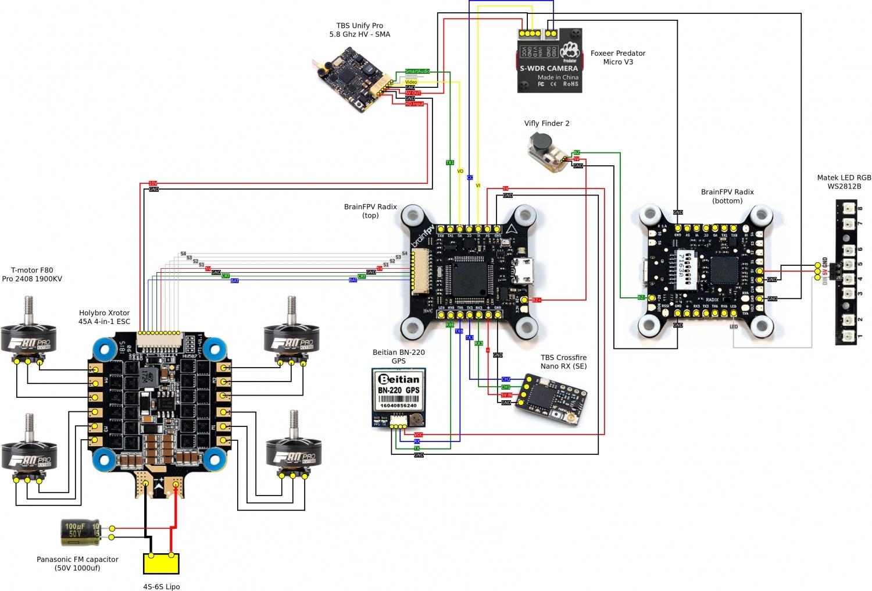 Antenna Rotor Wiring Diagram Drone Build Brainfpv Radix Hobbywing Xrotor 4in1 Esc Aldeid