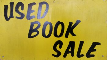 Used Book Sale sign