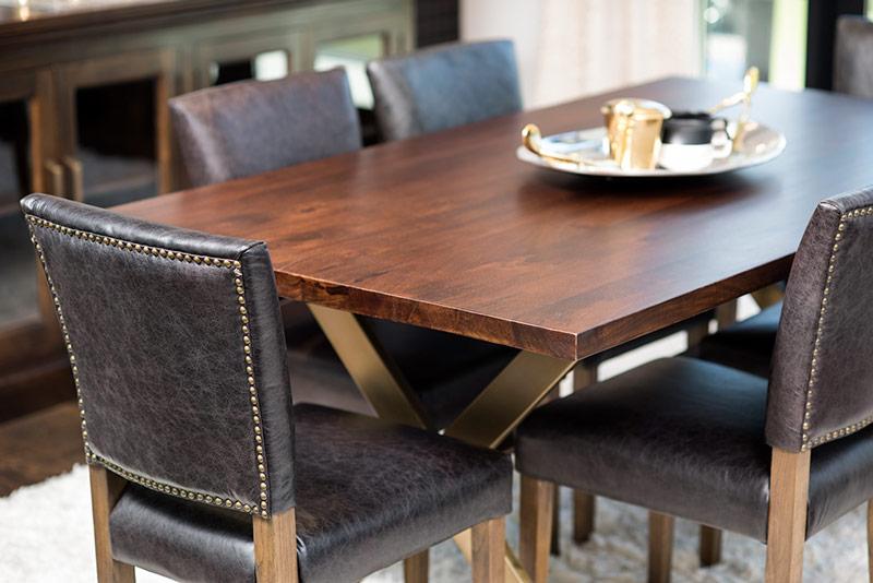 Dark Wood Round Dining Table