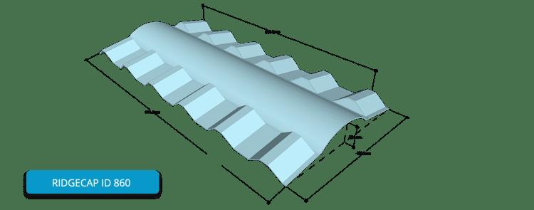 Alderon Twinwall Accessories - Ridgecap ID 860