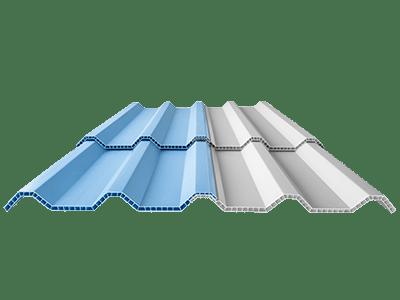 Alderon Twinwall atap uPVC Dingin Sejuk