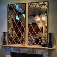Diamond Design Antique Window Panel Mirror Diamond-Window ...