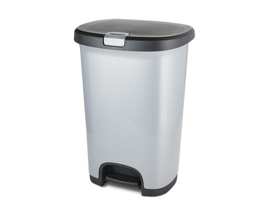 Easy Home 12.78-Gallon Lockable Step-On Wastebasket View 1