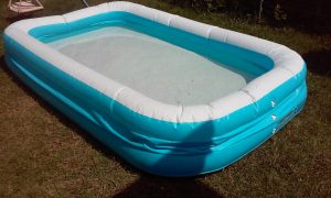 H2o go deluxe blue rectangular family pool aldi reviewer - Family pool aldi ...