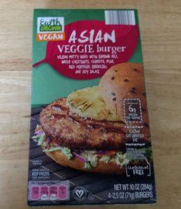 Earth Grown Vegan Asian Veggie Burger