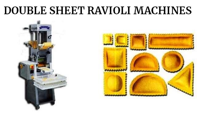 double sheet ravioli machines aldo