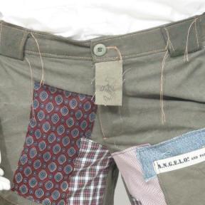 pantalone con inserti