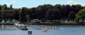 Courses d'aviron sur l'Allier