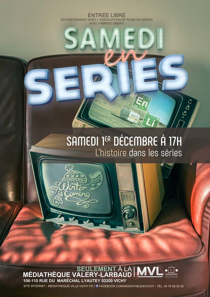 """""""Samedi en séries"""" à la Médiathèque Valery-Larbaud de Vichy"""