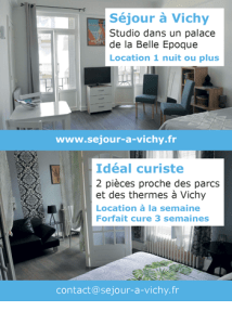 Location courte durée à Vichy, séjour thermal, visite touristique
