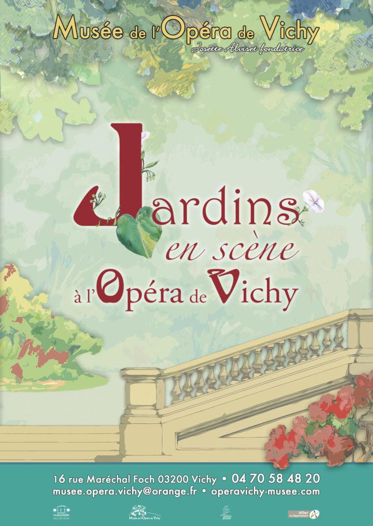 """Exposition """"Jardins en scène à l'Opéra de Vichy"""" au Musée de l'Opéra de Vichy"""
