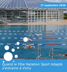 Quand le Pôle Natation Sport Adapté s'entraine à Vichy