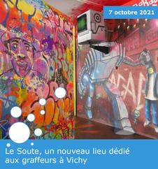 Le Soute, un nouveau lieu dédié aux graffeurs à Vichy