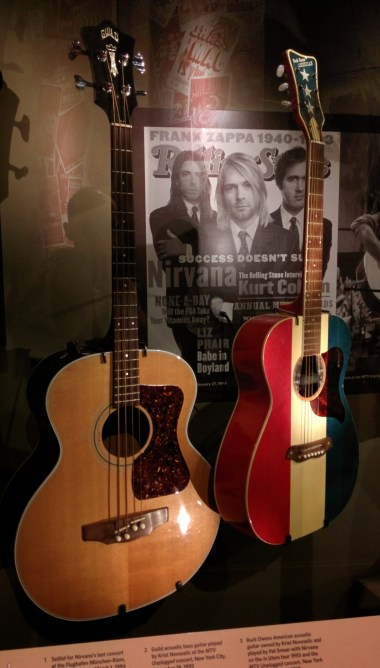 Nirvana's guitars from the Unplugged in New York