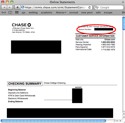 Get Chase Account Number Online Alec S Web Log