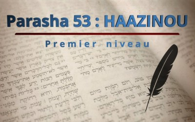 Parasha 53 : HAAZINOU (Écoutez…) – Premier niveau
