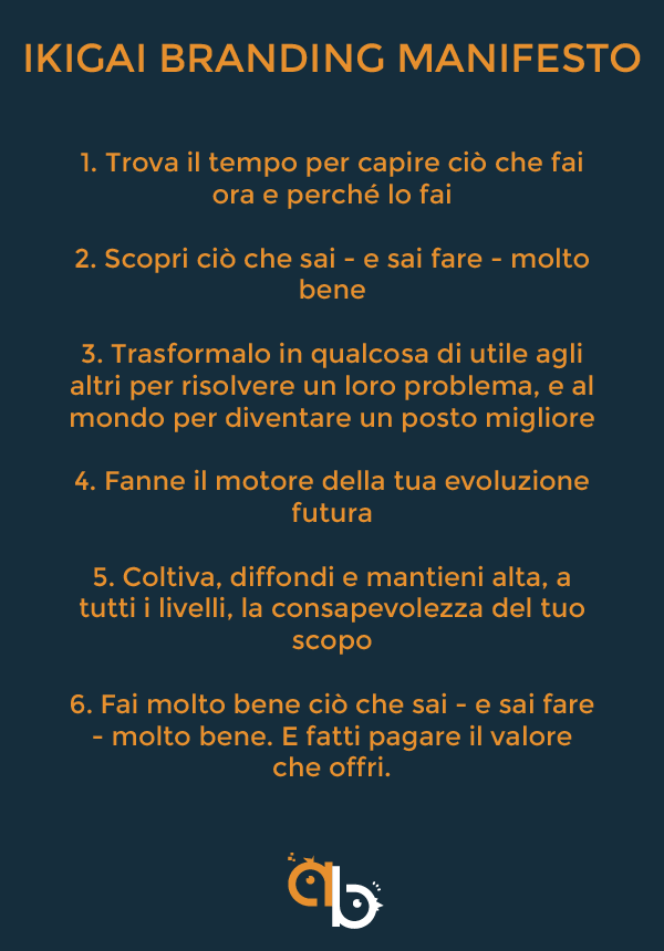 Ikigai branding manifesto: i princìpi di come fare branding secondo l'ikigai | Alex Bar consulente web marketing Torino