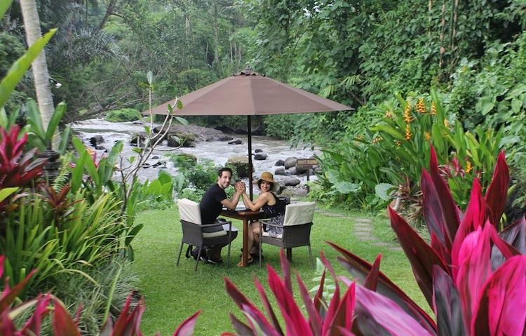 Lunch at 'Samaya Resort', Udud, Bali (February)