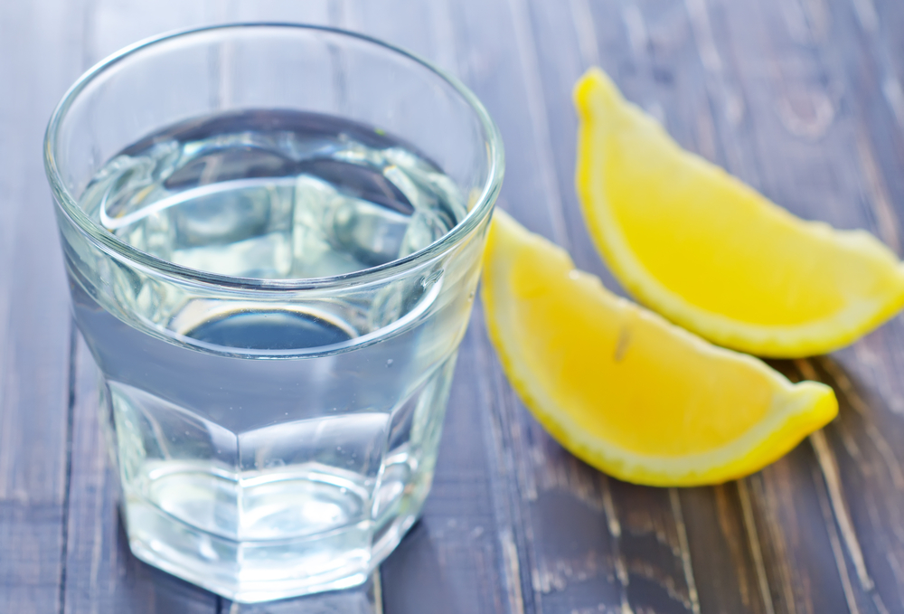 alkalize lemon water