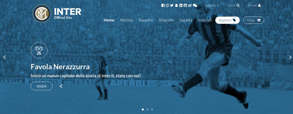 Nuovo sito-web Inter
