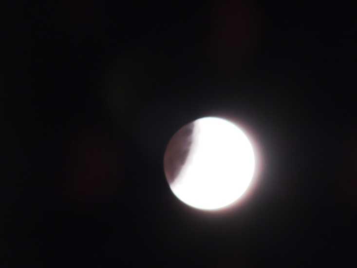 Alegretenses podem observar eclipse lunar parcial nesta terça-feira