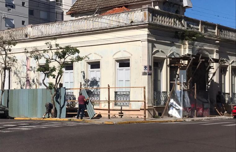 Finalmente teve início a restauração do Museu Dr José Pinto Bicca de Medeiros