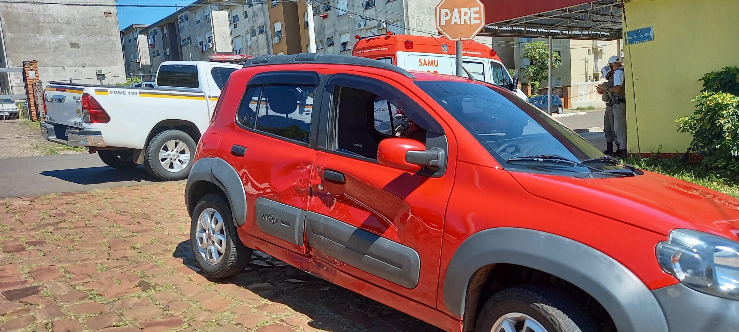 Motorista, sem CNH, avança preferencial e deixa homem ferido