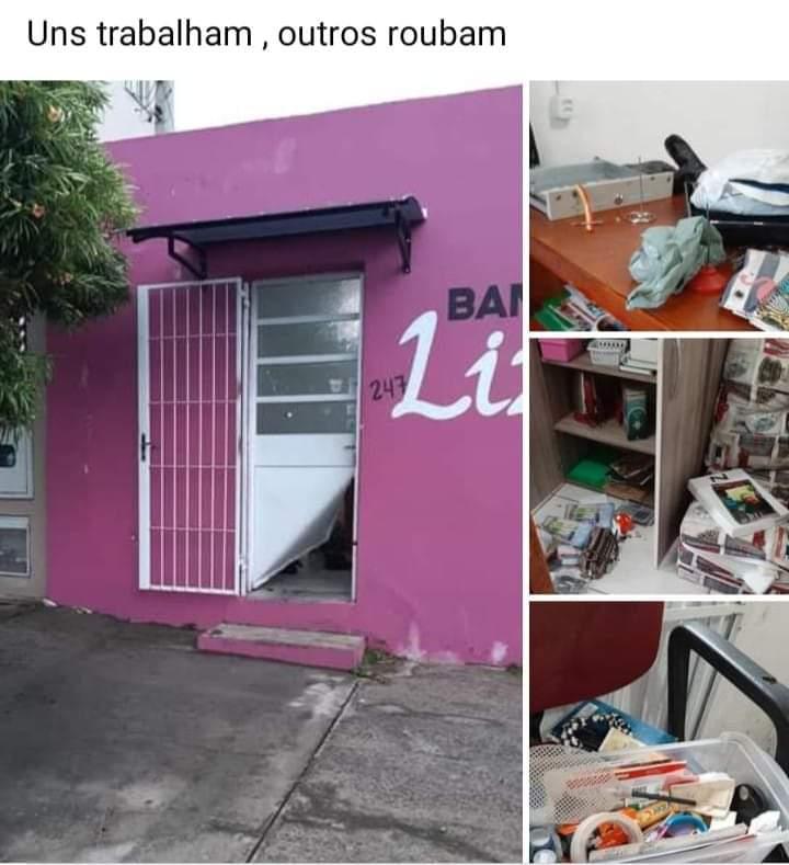 Ladrão arromba estabelecimento comercial e faz a limpa no local