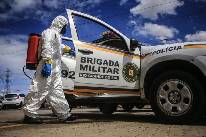 Avanço da pandemia faz contaminação por coronavírus na Brigada Militar triplicar em 10 dias