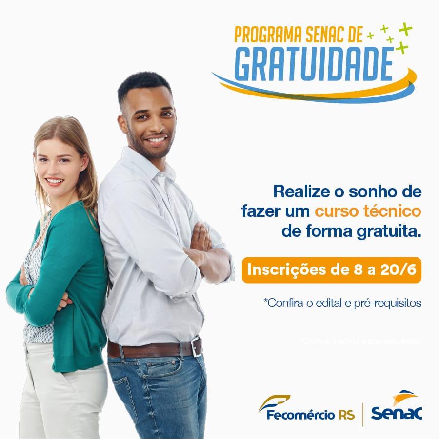Senac Alegrete oferece vagas gratuitas no curso Técnico em Finançaspara pessoas de baixa renda