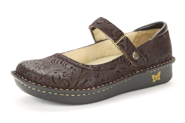 Alegria Belle Choco Emboss Paisley Free Shipping