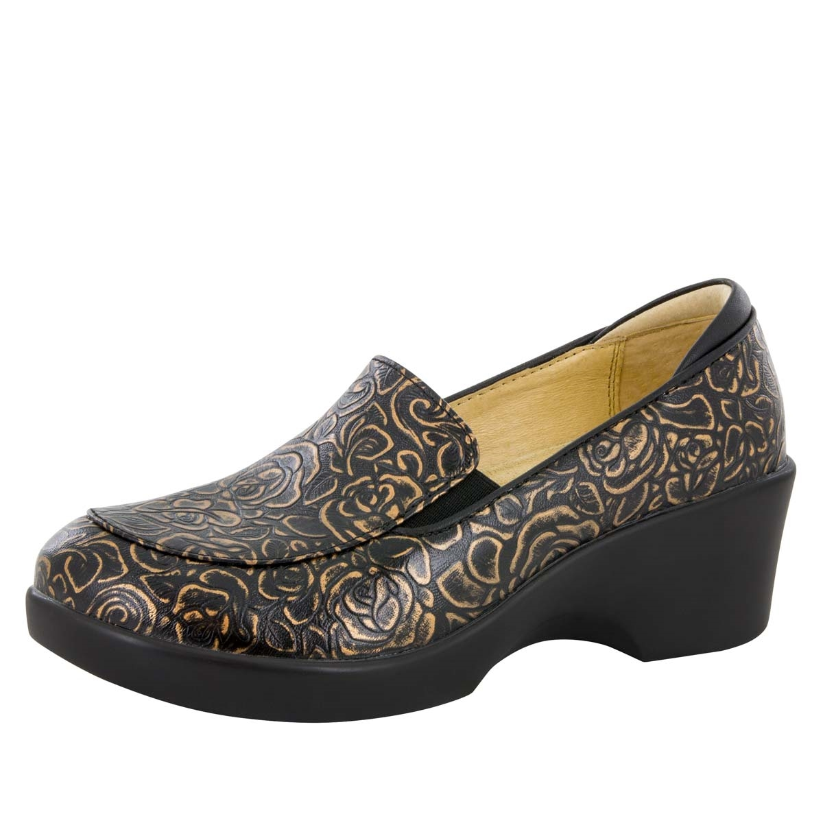Alegria Shoes Emma Bronze Bouquet Dress Loafer Alegria