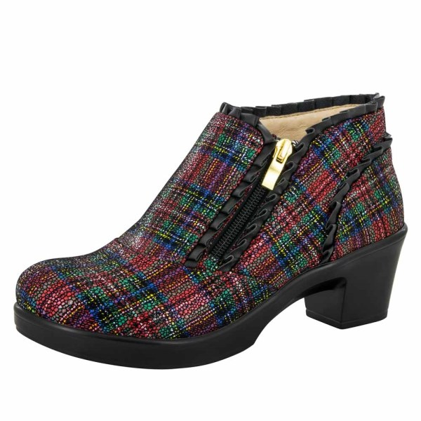 Alegria Shoes Hannah Tartan Ankle Boots Free Shipping